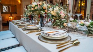 Table of Honour set up for a Simple Chic Wedding in Marrakesh