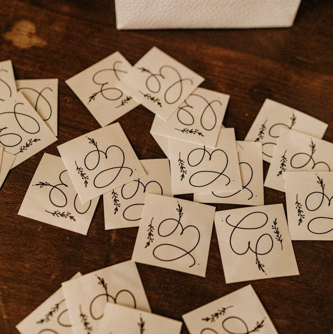 Temporary tattoos gifts for the guests of an Elegant Boho Chic Wedding at the Beldi Country Club