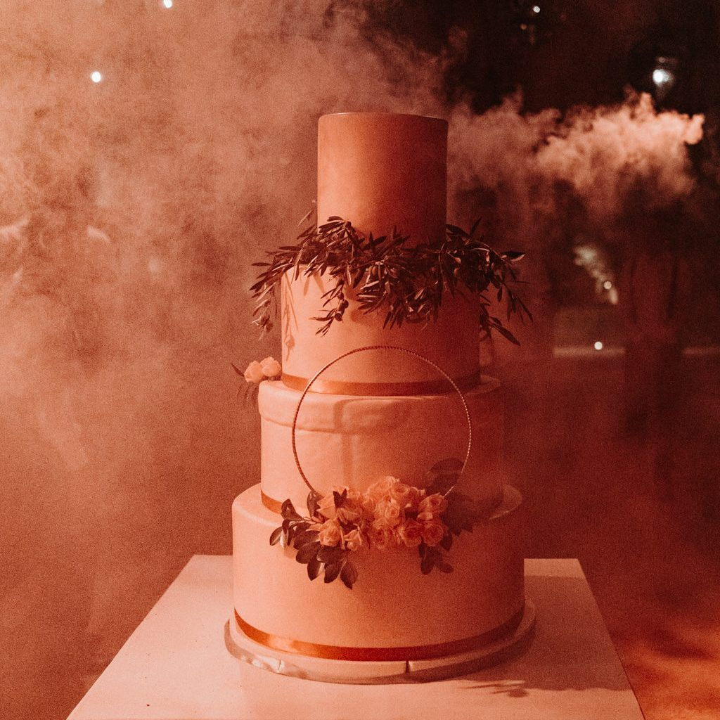 Wedding cake of an Elegant Boho Chic Wedding at the Beldi Country Club