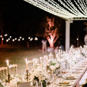 A Bohemian and a Romantic Wedding at the Villa Dar Moucha in Morocco - Bespoke by Hello Event - Diner Table Setup 2