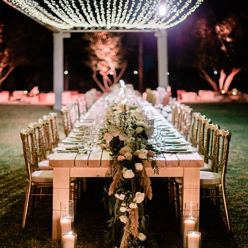 A Bohemian and a Romantic Wedding at the Villa Dar Moucha in Morocco - Bespoke by Hello Event - Diner Table Setup