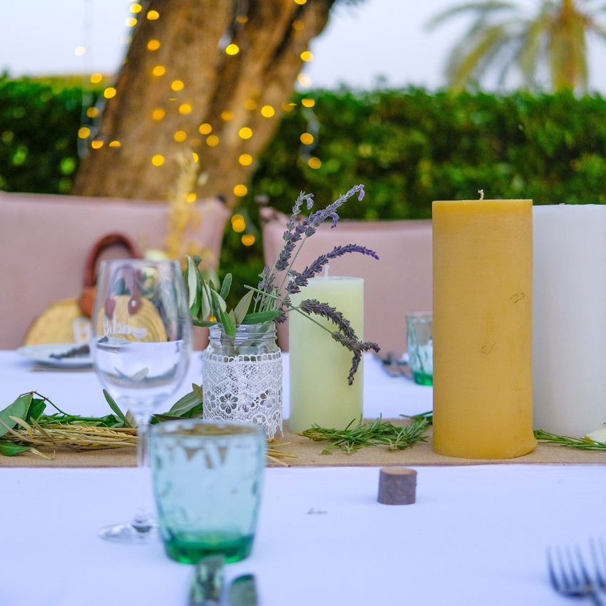A Boho Wedding at the Amanjena Hotel Bespoke by Hello Event Wedding Planner - Candles