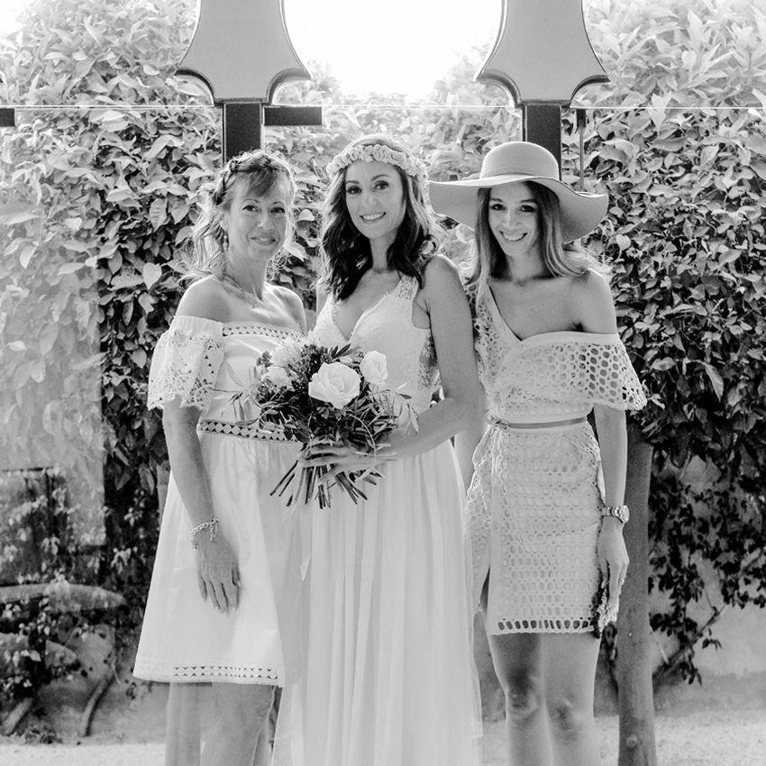 A Boho Wedding at the Amanjena Hotel Bespoke by Hello Event Wedding Planner - The bride and her bridesmaid