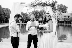 A Boho Wedding at the Amenjena Hotel Bespoke by Hello Event Wedding Planner - Bride and Groom