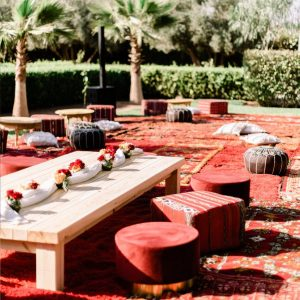 A Romantic Wedding at the Villa Dar Moucha in Morocco - Bespoke by Hello Event - Cocktail Setup