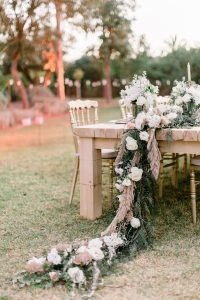 A Romantic Wedding at the Villa Dar Moucha in Morocco - Bespoke by Hello Event - Diner Table Setup