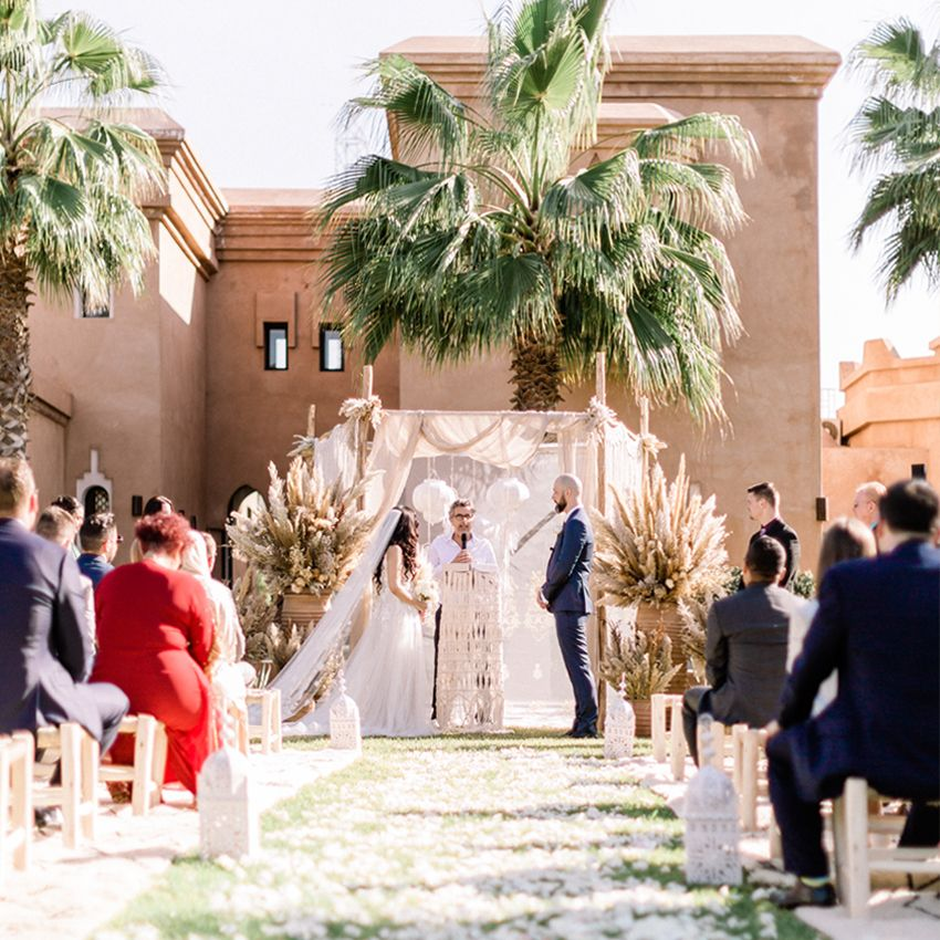 A Romantic Wedding at the Villa Dar Moucha in Morocco - Bespoke by Hello Event - The Wedding Ceremony