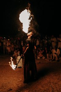 Fire Eater of an Elegant Boho Chic Wedding at the Beldi Country Club - Hello Event